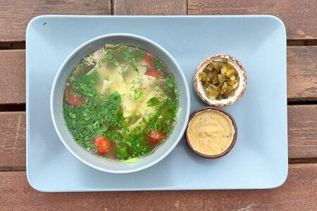 Острый суп из конины