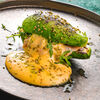 Фото к позиции меню Авокадо бургер с лососем