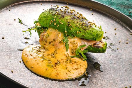 Авокадо бургер с лососем