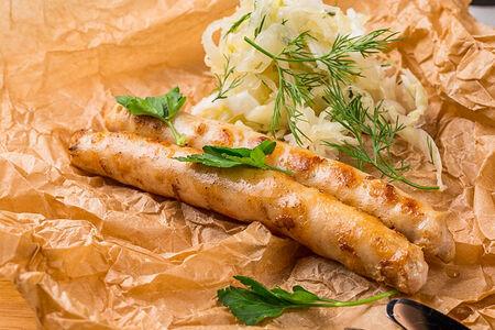 Колбаски с квашеной капустой