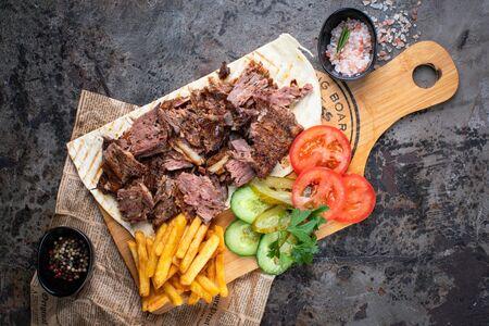 Донер порционный с говяжьим мясом