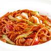 Фото к позиции меню Спагетти с креветками и сельдереем