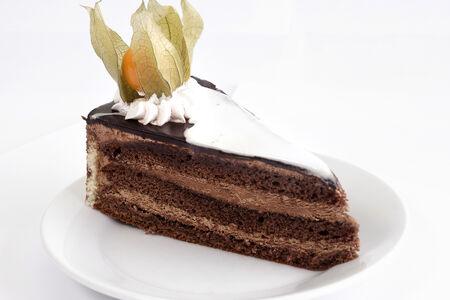 Пирожное шоколадно-карамельное
