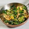 Фото к позиции меню Спагетти с зелеными овощами