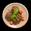 Фото к позиции меню Котлеты из говядины и баранины жареные
