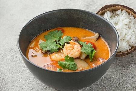 Суп Том Ям с креветками