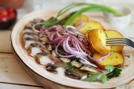 Селедочка с картофелем под водочку