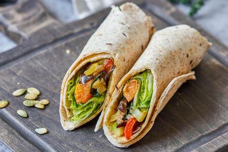 Сендвич-ролл с печеными овощами