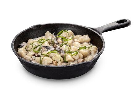 Паста Ньокки с белыми грибами