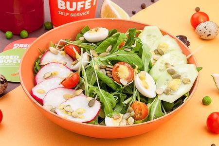 Микс салат с цитрусовой заправкой