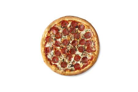 Пицца с курицей, грибами и колбасой Пепперони