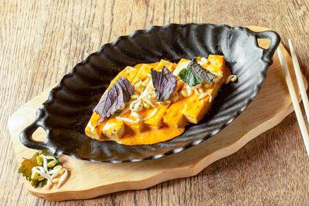 Чили-тофу и папайя мусс
