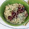 Фото к позиции меню Печёные баклажаны <<бабагануш>> с маслинами