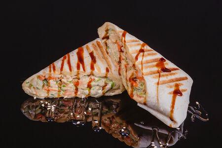 Хоткейк с лососем