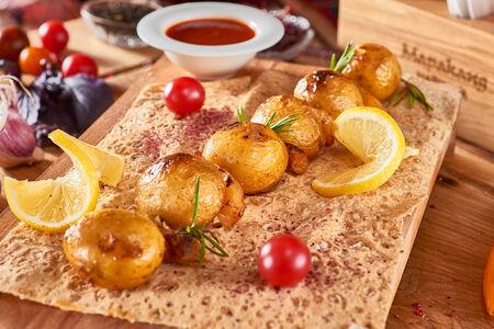 Картофель черри с курдюком