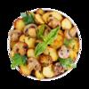 Фото к позиции меню Картофель с шампиньонами жареный