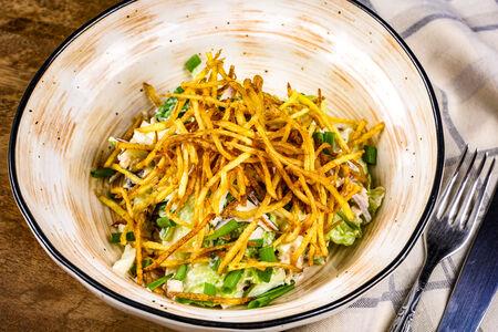 Салат из копченой индейки с картофелем