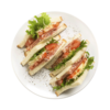 Фото к позиции меню Клаб сэндвич с сыровяленым окороком и сыром