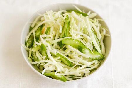 Салат из свежей капусты с сельдереем