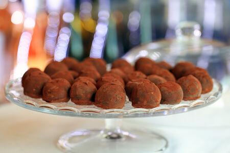 Набор из трех домашних шоколадных трюфелей