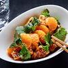 Фото к позиции меню Хрустящие баклажаны с мандаринами