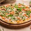 Фото к позиции меню Пицца с тигровыми креветками