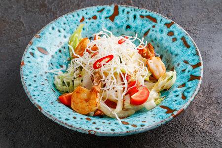Салат Вьетнамский с манго и креветками