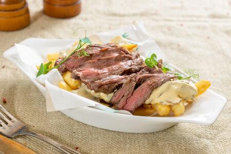 Картофель фри с говядиной