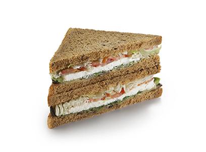 Сандвич с запеченными овощами