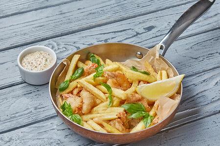 Фритто мисто с морепродуктами и соусом Тартар