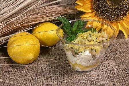 Десерт Творожный с ананасом и цедрой лимона
