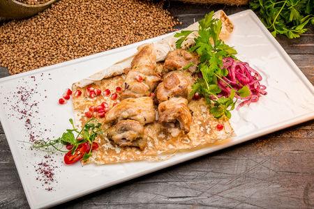Шашлык из мяса домашней курицы