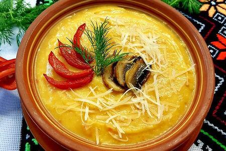 Крем-суп из тыквы с грибами