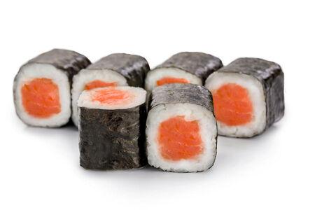 Мини-ролл с копченым лососем