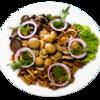 Фото к позиции меню Маринованные грибы с луком