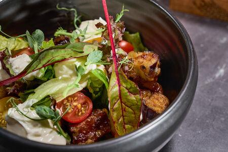 Хрустящие баклажаны со сливочным сыром и азиатским соусом