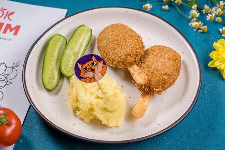 Эскимо куриное с картофелем пюре