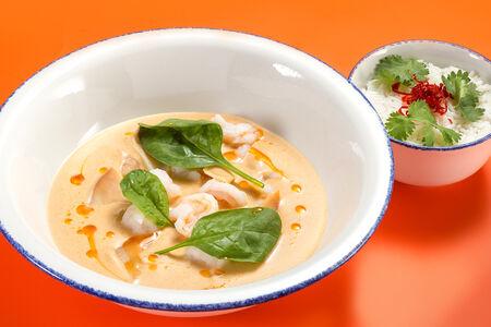 Суп в стиле том ям с креветками