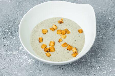 Крем-суп с картофелем и шампиньонами