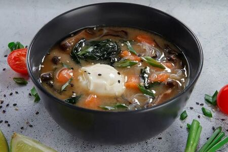 Мисо суп сливочный с лососем
