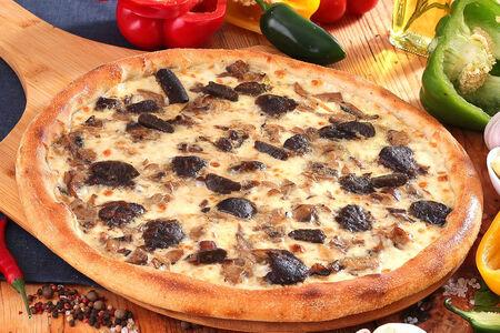 Пицца Белые грибы с трюфелями пышная