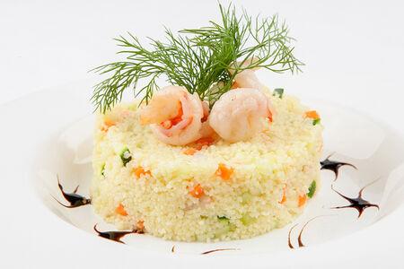 Салат Кус-кус с креветками