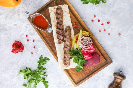 Люля-кебаб из рубленой баранины