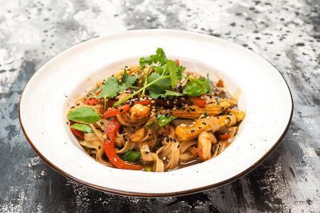 Лапша Сингапурская с креветками