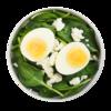 Фото к позиции меню Яйцо со шпинатом и сыром фета
