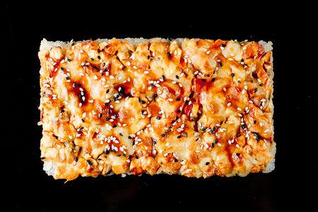 Пицца-ролл с угрем