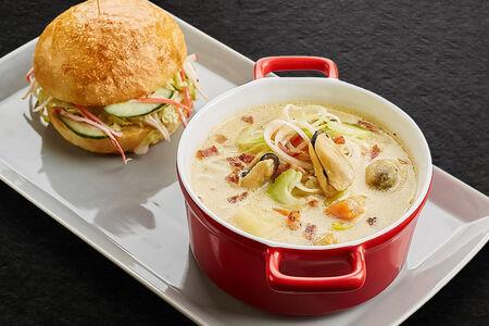 Суп Сливочный с мидиями