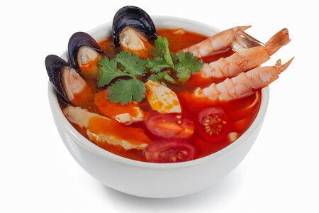 Суп Том-ям с креветкой