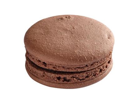 Мини-пирожное Французский макарон шоколадный