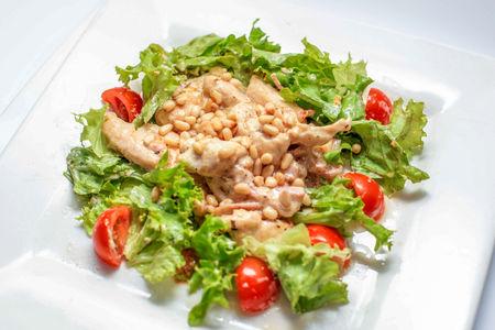 Горячий салат из курицы